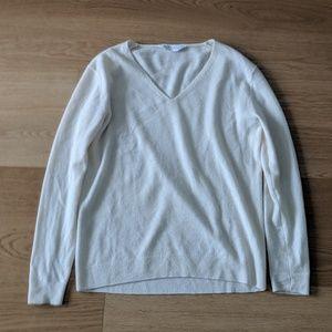 Everlane V-Neck Cashmere Sweater XS Ivory